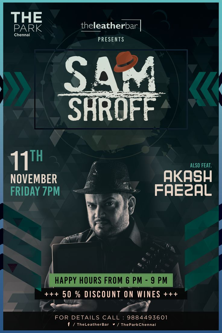 Start your weekend with a bang! DJ Sameer Shroff takes on the decks at #TheLeatherBar this #Friday, supported by our resident DJs Akash Ax & Faezal Khan Happy Hours from 6-9 PM & 50% off on wines! See you there! For details call 9884493601. #Techno #Music #Party #Dance #TheParkChennai