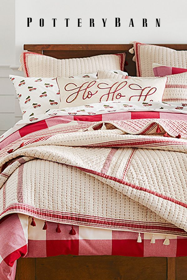 Spread holiday cheer with mix-and-match sheet sets, cozy quilts and