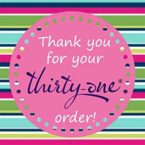 Thank you for your Thirty-One order! #ThirtyOne #ThirtyOneGifts #31Party…