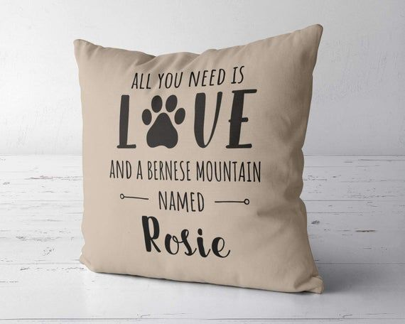 Custom Bernese Mountain Dog Pillow Cover Case Bernese Etsy With