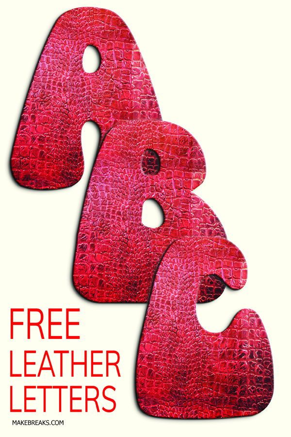 Free Leather Effect Printable Alphabet Free Printable Letters