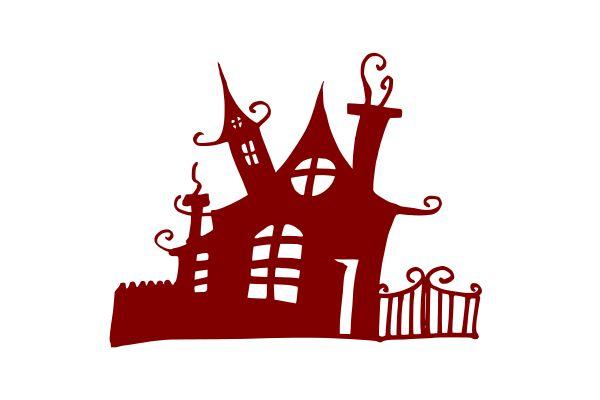 Хэллоуин-преследовало-замок-дом-1