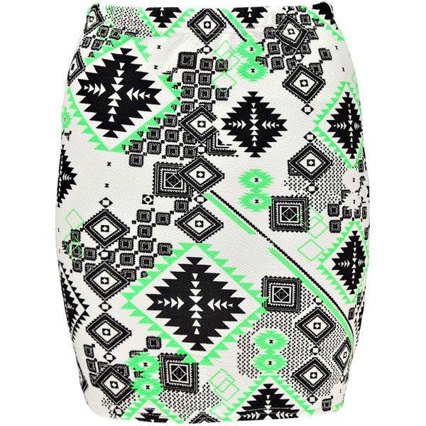 Boohoo Demi Neon Aztec Crepe Mini Skirt (195 UYU) ❤ liked on Polyvore featuring skirts, mini skirts, bottoms, saia, faldas, neon mini skirt, aztec print skirt, neon skirt, mini skirt and aztec mini skirt