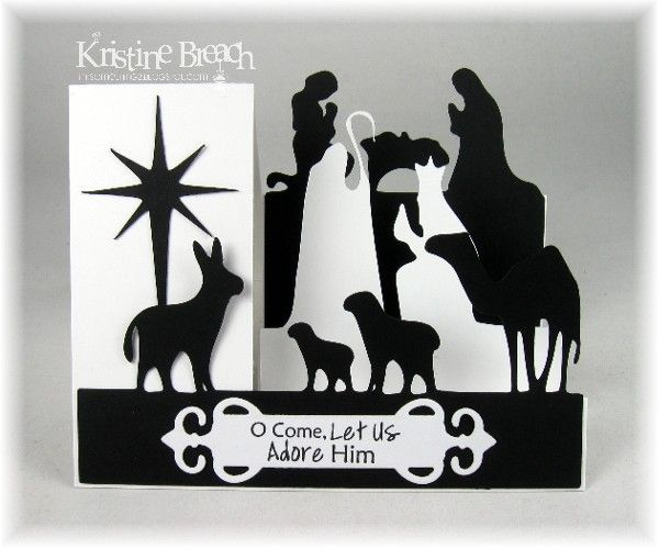 Black-n-White Side Step Nativity by KristineB - Cards and Paper Crafts at Splitcoaststampers