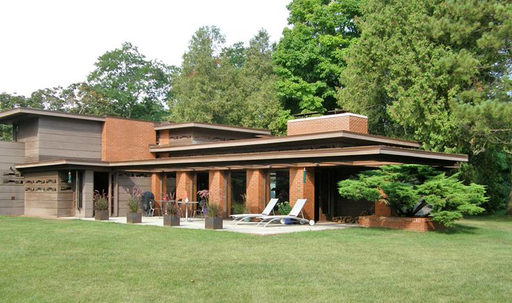 Bernard Schwartz House, 1939. Two Rivers, Wisconsin. Usonian Style. Frank Lloyd Wright
