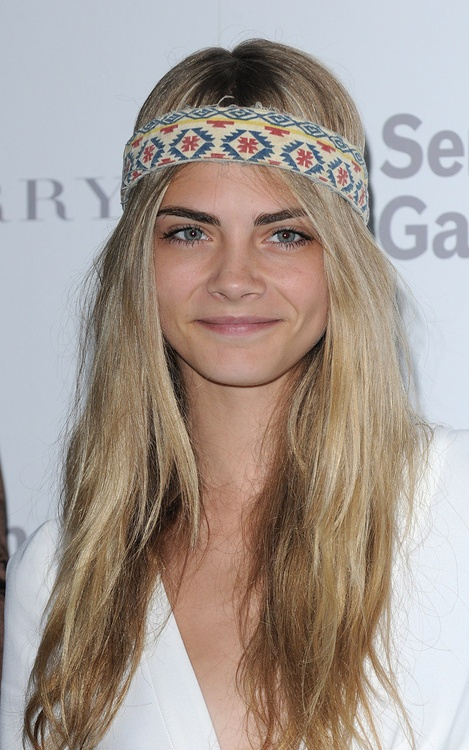 Cara Delevingne- when I get bored of dying my hair blue, purple and the other colours of the rainbow I shall go this colour for a bit I think :)