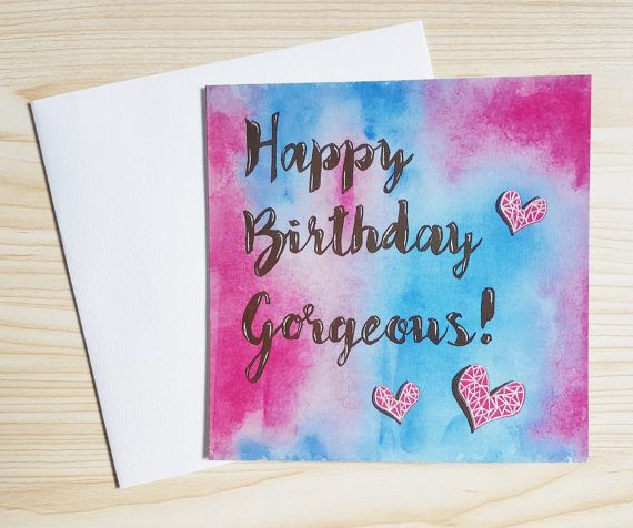 Modern calligraphy birthday cards just listed at https://www.etsy.com/au/listing/506230458/bright-modern-birthday-cards-modern