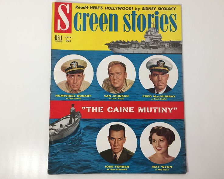 Screen Stories Magazine July 1954 - Cover The Caine Mutiny - Vintage Movie - Inside Humphrey Bogart, Fred McMurray, & Barbara Stanwyck by BagBagSydVintage on Etsy