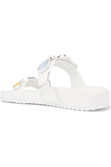 Sophia Webster - Becky Crystal-embellished Leather Sandals - White - IT40.5