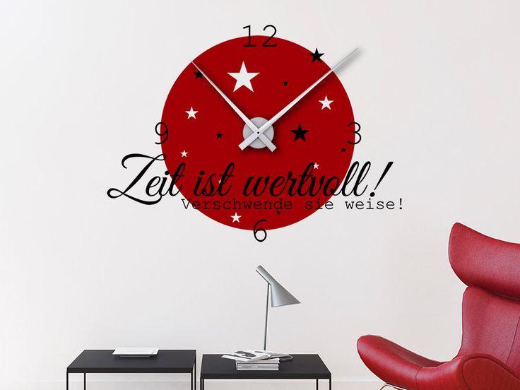 25+ ide Wandtattoo uhr terbaik di Pinterest Wandtattoo - schöne wanduhren wohnzimmer