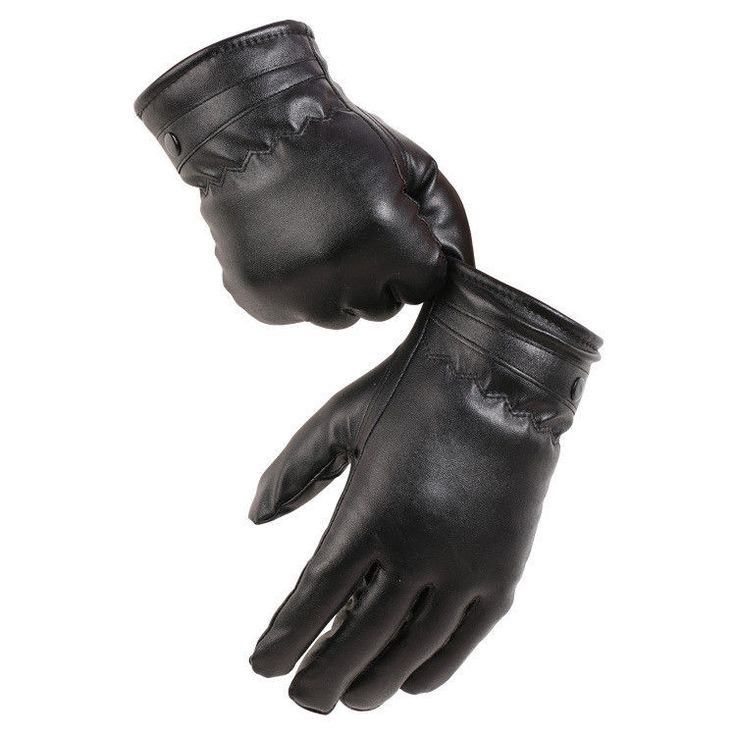 Mens Winter Touch Screen Full Finger Leather Gloves Motorcycle Driving Warm Oc3
