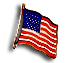 """Classic American Flag Lapel Pin - American flag enamel lapel pin. Size: 0.75"""" W x 05""""H.Price: $6.95 #American flag pin http://www.starsandstripesproducts.com/classic-american-flag-lapel-pin/"""