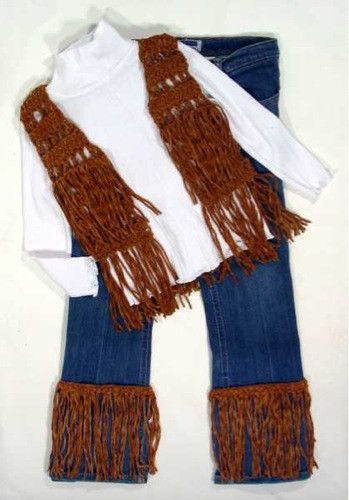 Fringed Vest and Jeans Trim for Kids Pattern