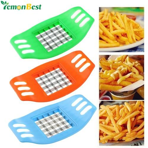 1Pcs Potato Chips Cutter Stainless Steel Vegetable Square Slicer Cutting Device Cut Fries Kitchen Tool For French Fry Cutters #frys #potato