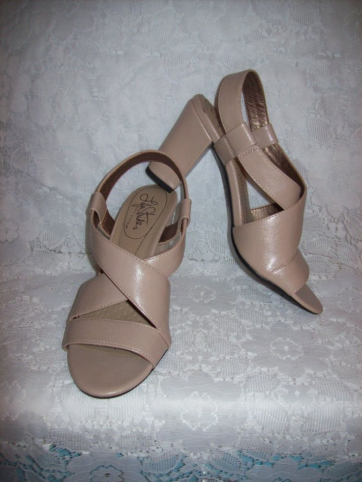 Vintage Ladies Taupe Strappy High Heel Sandals by Life Stride Size 6 1/2 Only 6 USD by SusOriginals on Etsy