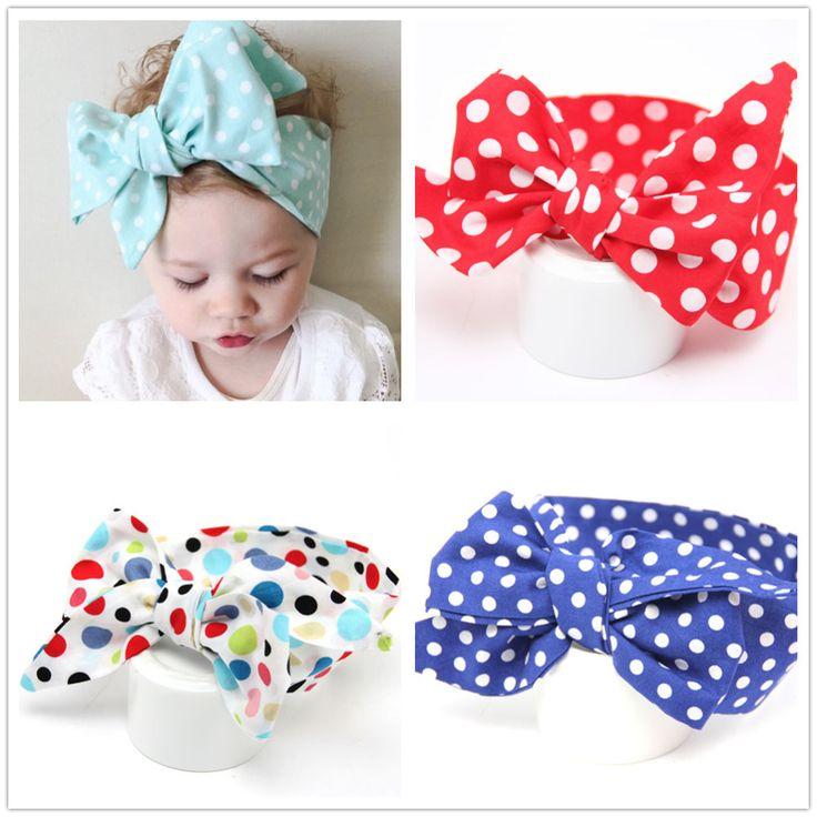 polk dots girl hair headbands bands for newborns kids hair accessories turbant hair ornaments girl headwear headbands turban