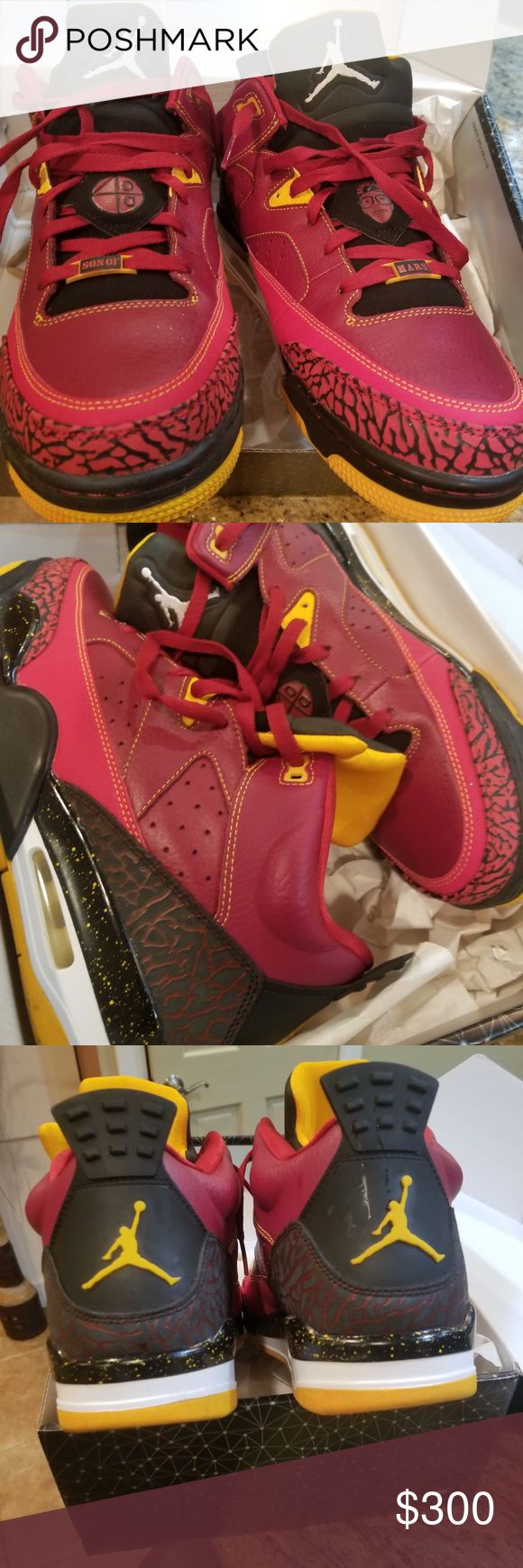 New Spike Lee Jordan's Size 11, Red,black,yellow. With Box Nike Shoes Sneakers