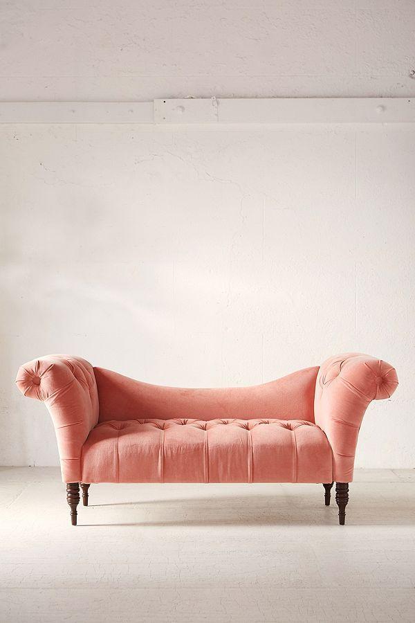 Slide View: 2: Antoinette Fainting Sofa - Coral