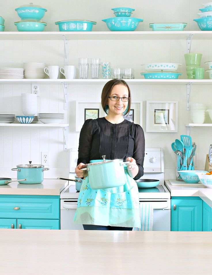The Kitchen Needed More Turquoise Win 1000 From Turquoise Kitchen Vintage Pyrex