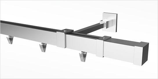 Karnisz aluminiowy ELITE 20x20mm Carrara antyk mosiądz