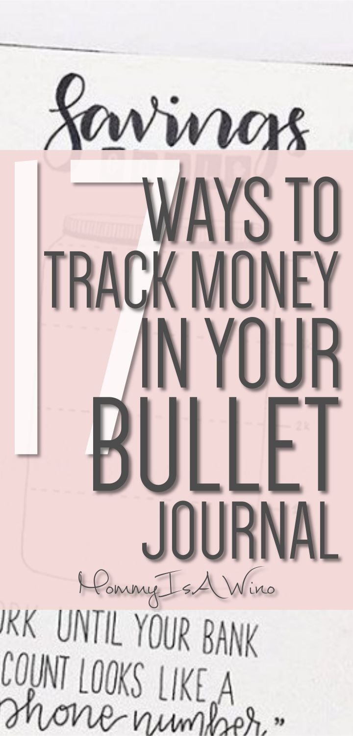 17 Ways To Track Money In Your Bullet Journal - Find a Bullet Journal Money Tracker to save money and stay on budget