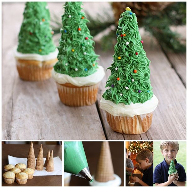 Edible Christmas Tree ! YUMMY :) Recipe--> http://wonderfuldiy.com/wonderful-diy-edible-christmas-tree-with-cupcake/