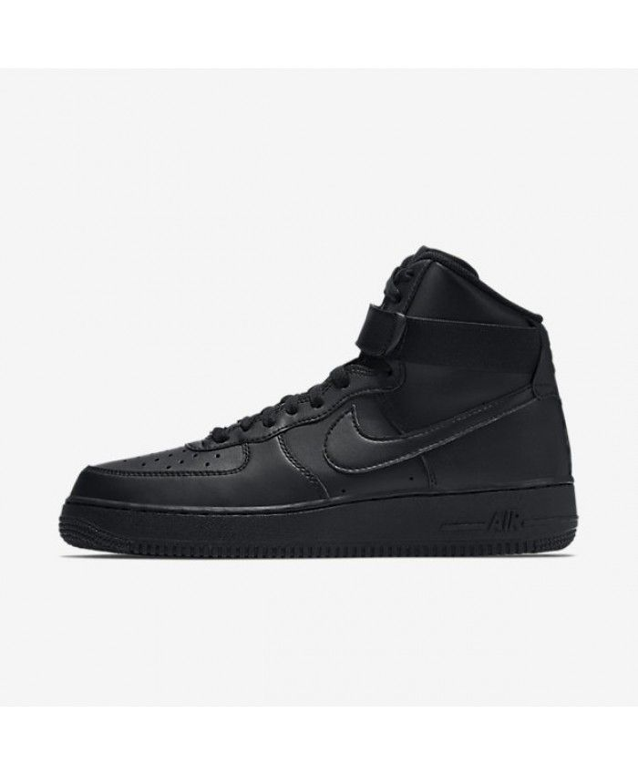 new concept d69ad 72966 Nike Air Force 1 High 07 Black Mens Shoe