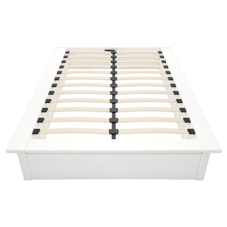 Maven Faux Leather Platform Bed (Full) - White Faux Leather - Dhp