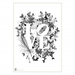 Love II Typographic Print.  Available to buy from www.everythingbegins.com