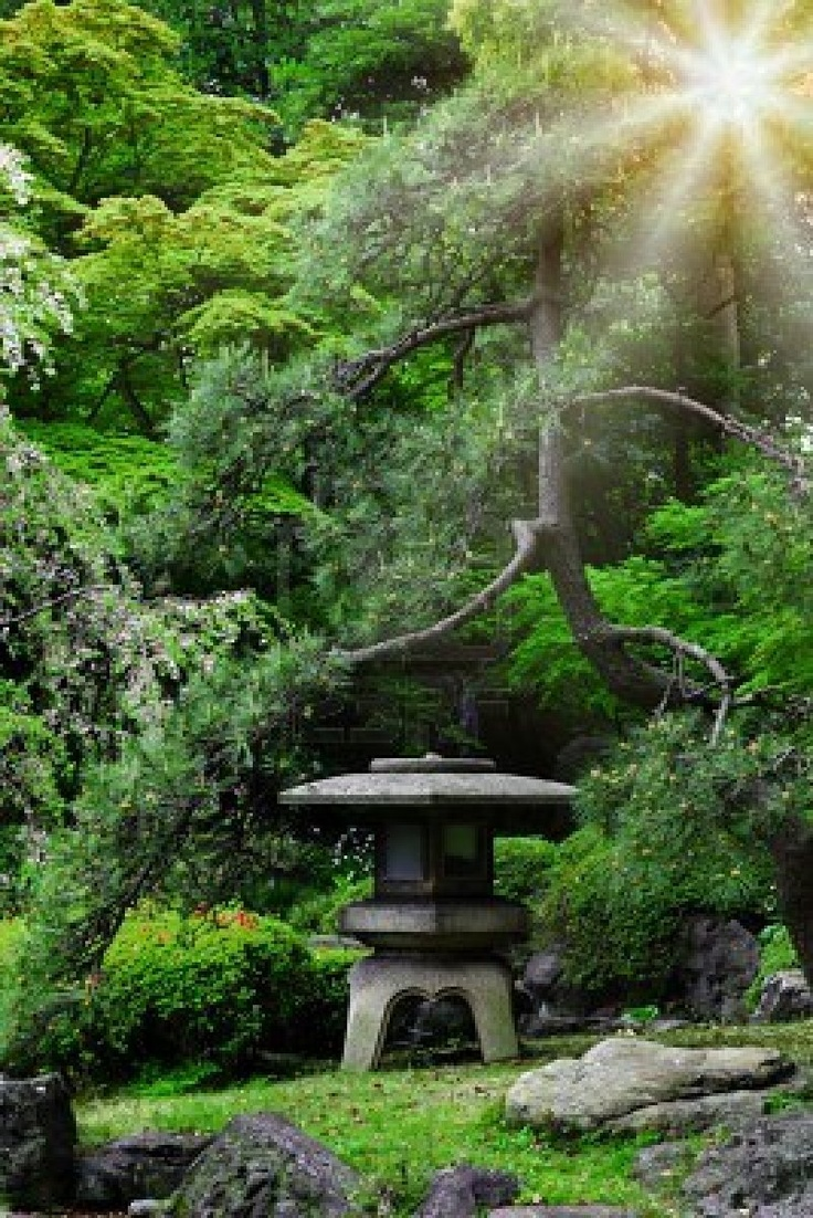 Japanese Garden With Rocks: 1000+ Images About Japanese Stone Lanterns On Pinterest