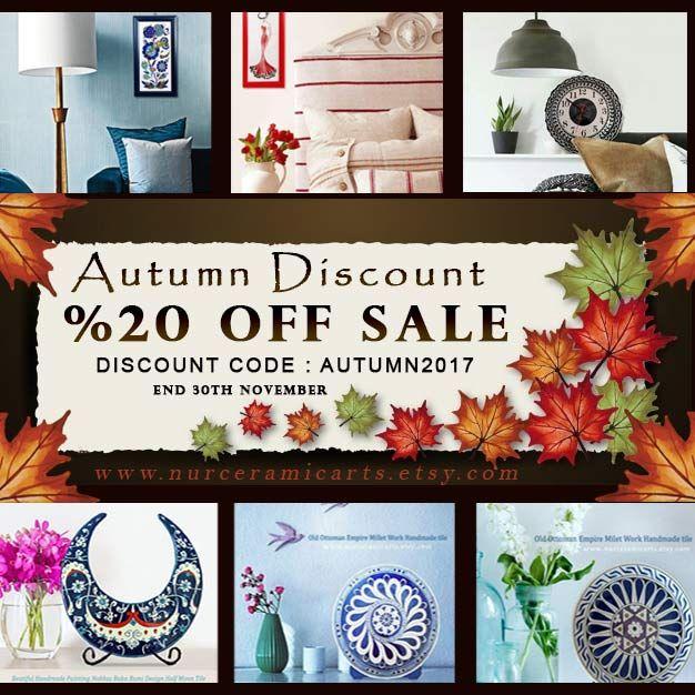 Happy friday Autumn % 20 #DİSCOUNT CODE : AUTUMN2017 https://www.etsy.com/shop/nurceramicarts?coupon=AUTUMN2017… #giftideas #crafthour #decorativeideas #art #homedecor #homedesign #izniktile #tile #style #homedesignideas  #homedesignideas #art #artdecor