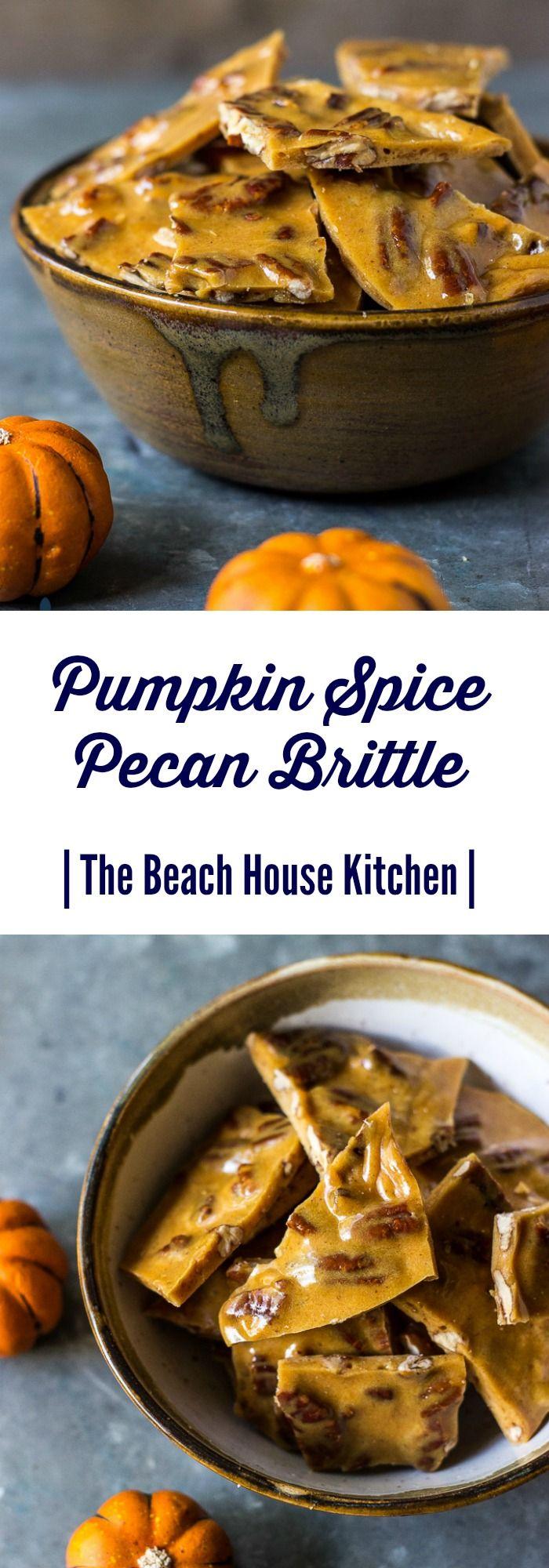 Pumpkin Spice Pecan Brittle | The Beach House Kitchen                                                                                                                                                                                 More