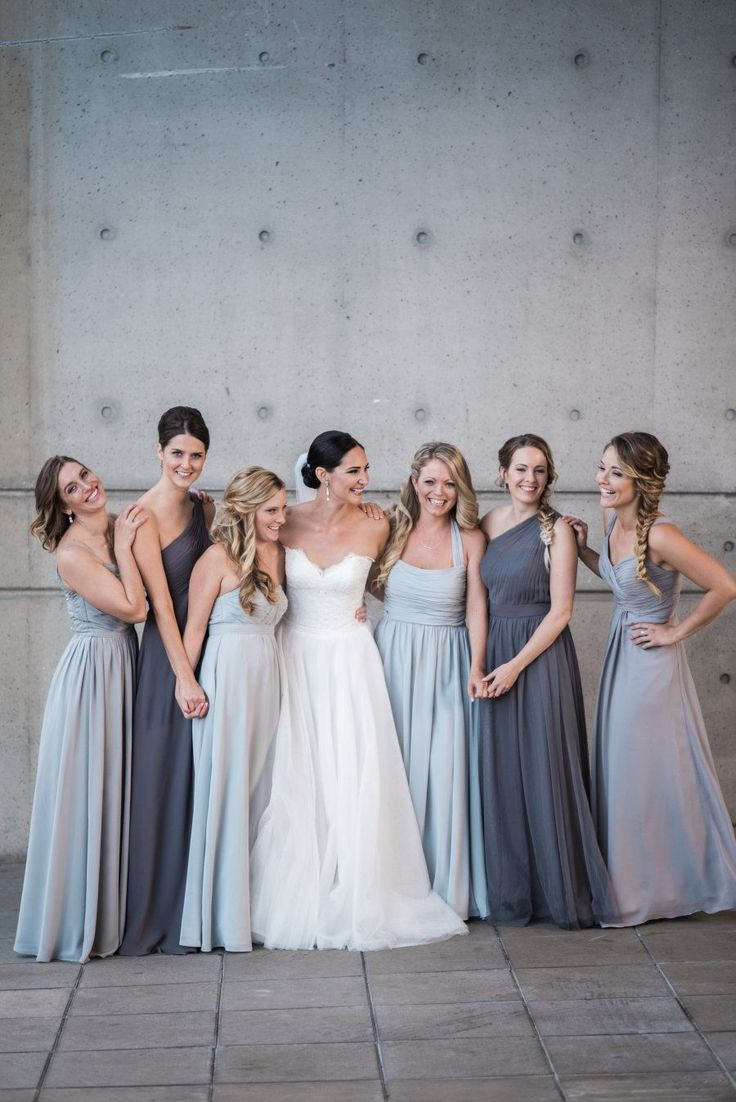 Jewel toned bridesmaids: Bridesmaids' Dresses: For Her And For Him - http://www.forherandforhim.com/ Groomsmen's Attire: Indochino - http://indochino.com Photography: Blush Wedding Photography - blushweddingphotography.com   Read More on SMP: http://www.stylemepretty.com/canada-weddings/2017/06/08/modern-waterfront-british-columbia-wedding/