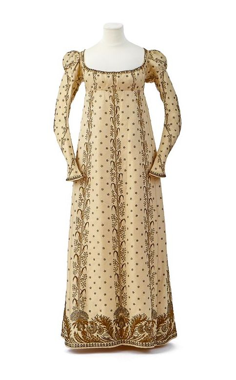 Court dress and train owned by Empress Josephine (1763-1814), First Empire