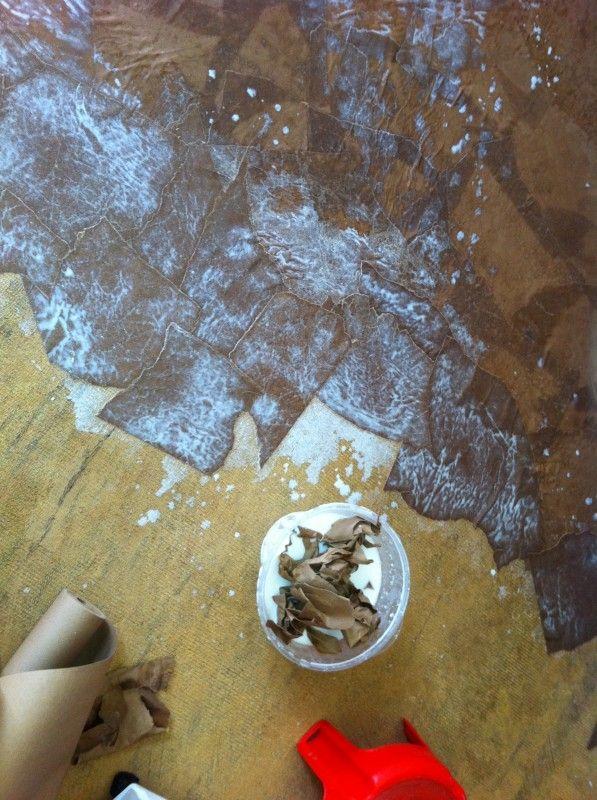 paper bag floors, hmmmm: Diy Ideas, Bowl, Brown Paper Bags, Dip, Decorating Ideas, 1 Tear Brown, Paperbag Floors, Craft Ideas