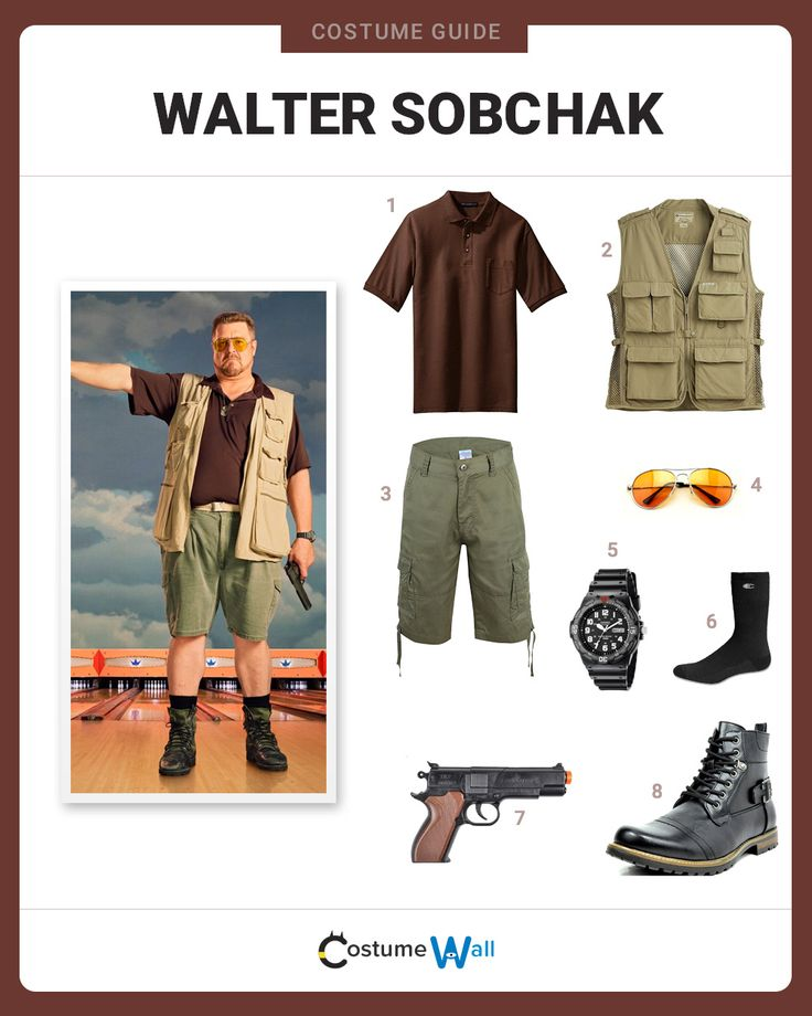 Now you can dress up as the beloved best friend of the Dude, Walter Sobchak, from The Big Lebowski.