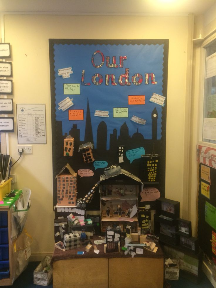 classroom london display landmarks junk modelling displays houses chn fawkes guy bright lights fire bread preschool visit inspiration