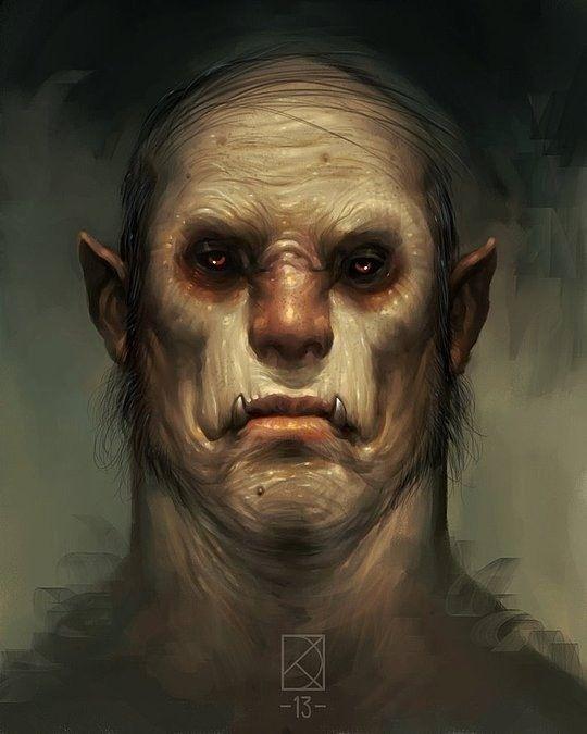Half Orc Portrait 118 best images...