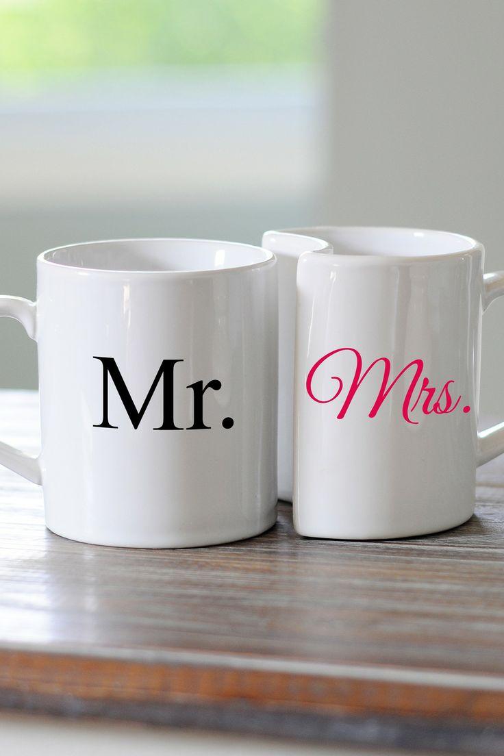 Coffee mug wedding favors - Mr Mrs Coffee Mug
