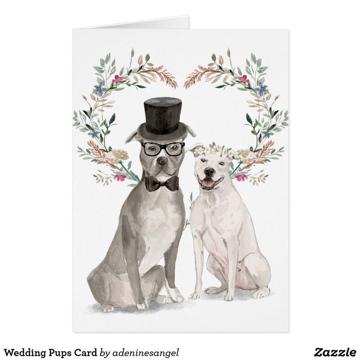 Wedding Pups Card