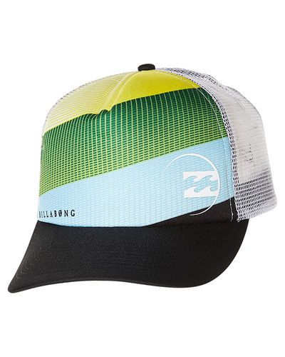 billabong baseball hat accessories caps warp trucker cap blue green uk