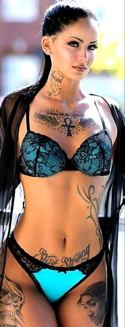 """Inked girl in lingerie"""