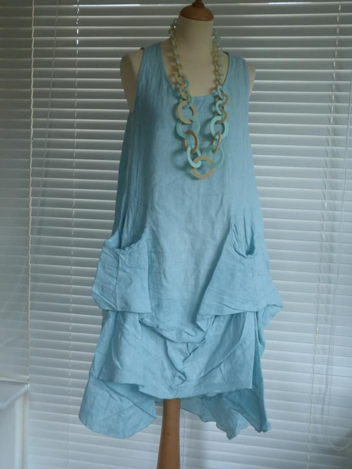Lovely Tan and Duck Egg Blue Bold necklace