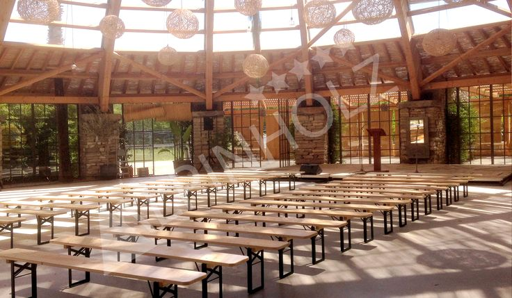 En el celler de Can Roca montamos nuestros bancos plegables de madera