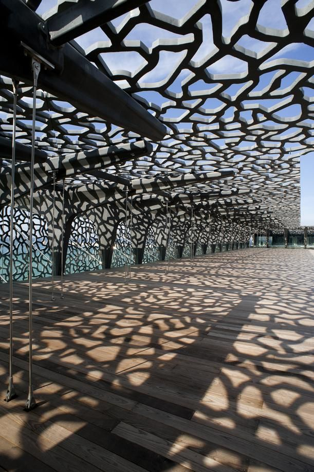 Musée des Civilisations de l'Europe et de la Méditerranée (MuCEM), Marseille, France. Architects Rudy Ricciotti et Roland Carta (2013) www.cplust.eu