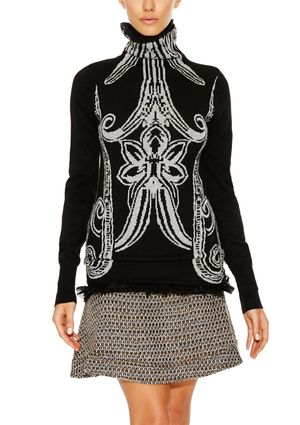 On ideel: DESIGUAL Long Sleeve Mock Neck Top