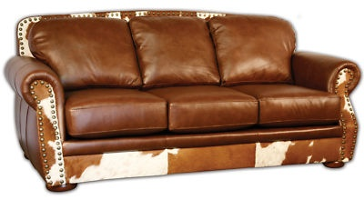 Cool western leather couch.