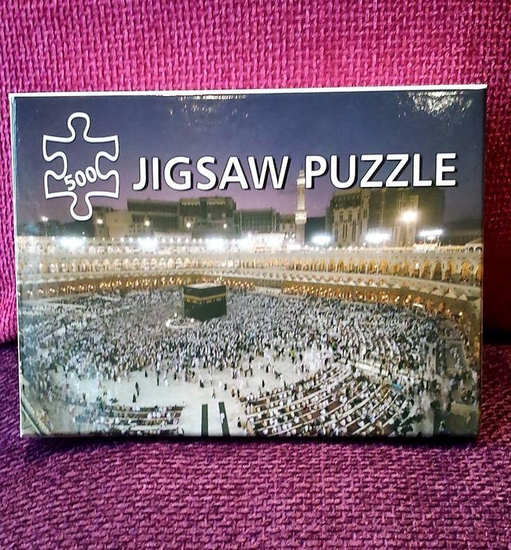 Great Islamic gift Idea. Jigsaw puzzle of the Holy Mosque. #Kaaba #mosque #Eid #Ramadan #Jigsaw #Puzzle #Kaaba #Hajj #Islamic #Muslim #ornament #gift #present
