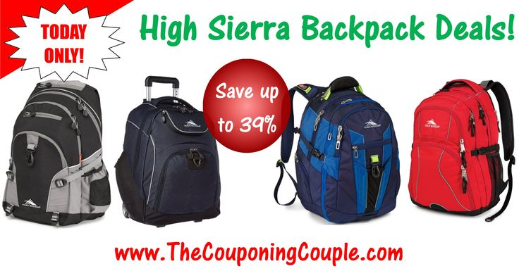 ***High Sierra Backpack Deals ~ Just in Time for Back to School*** Save up to 39%! Click the Picture below to get all of the details ► http://www.thecouponingcouple.com/high-sierra-backpack/  Use the SHARE button below the Picture to SHARE this Deal with your Family and Friends!  #Coupons #Couponing #CouponCommunity  Visit us at http://www.thecouponingcouple.com for more great posts!