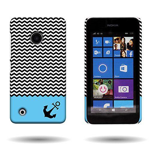 Nokia Lumia 530 Case with Pattern Design (Blue Chevron Anchor) CoverON® 1pc Slim Hard Shell Back Phone Cover for Nokia Lumia 530 CoverON http://www.amazon.com/dp/B00S9TPR20/ref=cm_sw_r_pi_dp_zpRMvb09FWRPW